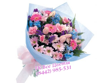 Букет из Тюльпанов и Хризантемы