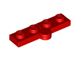 Hinge Plate 1 x 4 Swivel Top / Base Complete Assembly, Red (2429c01 / 6102786 / 74230)