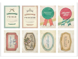 "Наклейки ""Lovely Stamps. Label"""