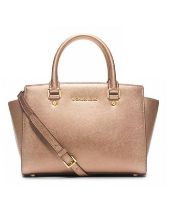Сумка Michael Kors Selma Medium Gold / Золотая