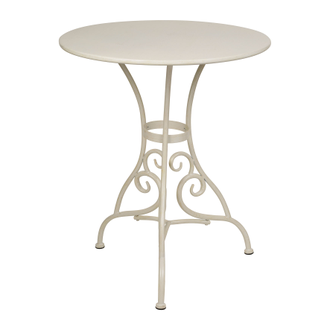 200519 TABLE VOLUTES IVORY D71XH75CM IRON