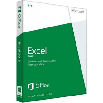 Microsoft Excel 2013 32-bit/x64 Russian 1 License Central Only DVD 065-07839