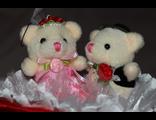 Свадебный букет из двух игрушек №234