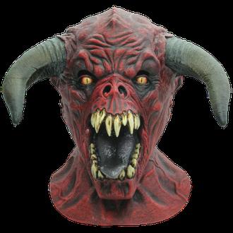 дьявол, сатана, маска, мутант, монстр, с рогами, рогатый, красный, ужасная, страшная, клыки, демон