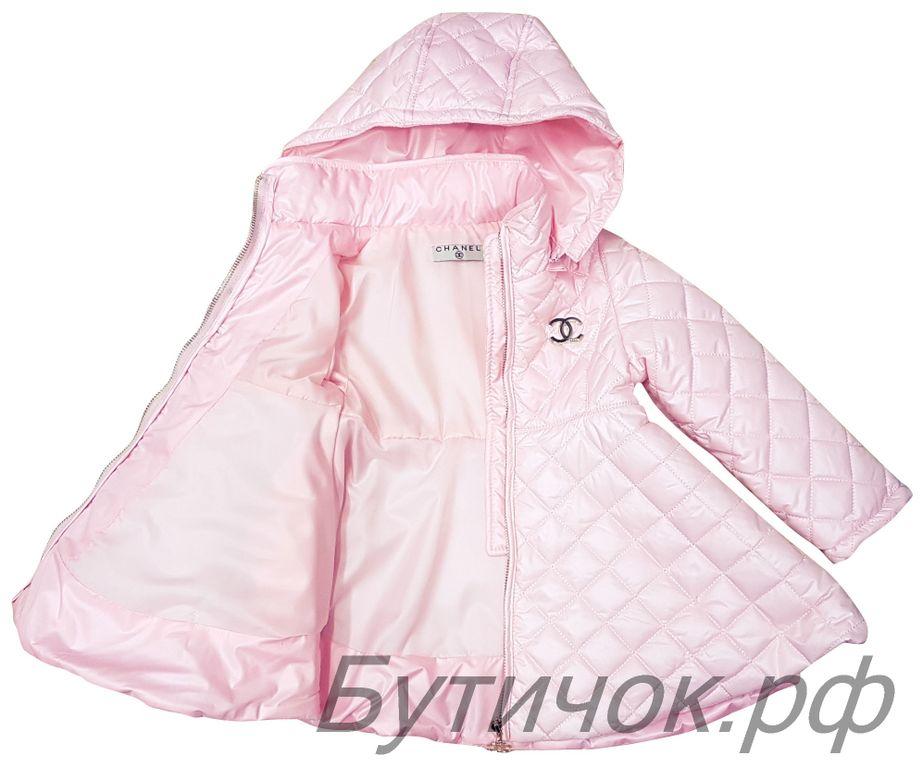 0bdcd435f29c Демисезонные пальто для девочек - М.1628 Пальто Chanel бежевое (копия)
