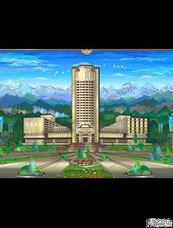 """векторная иллюстрация """"Казахский национальный университет им. Aль-Фараби """""""