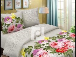 ЛЬНЯНАЯ ПАЛИТРА.  Комплект постельного белья из набивной бязи традиции текстиля, цельнокройное, хлопок 100%
