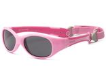 Солнечные очки для малышей Real Kids с гибкими дужками розовые