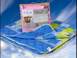 Одеяло из овечьей шерсти среднее евро 200*220