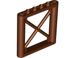 Support 1 x 6 x 5 Girder Rectangular, Reddish Brown (64448 / 6002837)