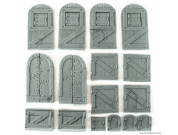 Medieval doors kit (unpainted)