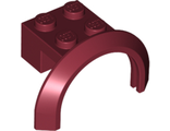 Vehicle, Mudguard 4 x 2 1/2 x 1 2/3 with Arch Round, Dark Red (50745 / 4621617 / 6146959)