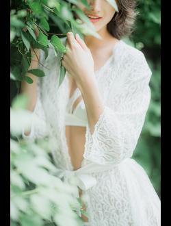 Кружевной халатик на утро невесты Натали