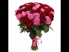 Букет Вишневый Рай 35 роз