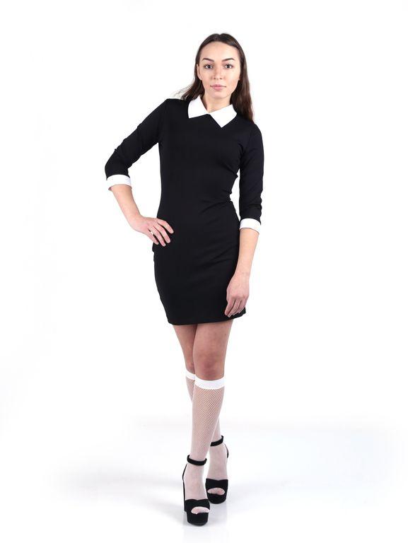 Платье С Белым Воротником И Манжетами Купить Москва