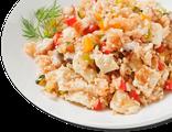 Каёси тяхан: мидии, японский омлет, цуккини, болгарский перец, лук, 220 гр, 311 Ккал