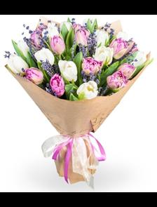 Букет 19 тюльпанов