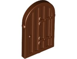 Shutter for Window 1 x 2 x 2 2/3 with Rounded Top, Reddish Brown (94161 / 4624507)