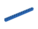 Technic, Brick 1 x 16 with Holes, Blue (3703 / 370323)