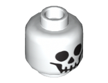 Minifigure, Head Skull Standard Pattern - Hollow Stud, White (3626cpb0001 / 4651445 / 6008095 / 82359)