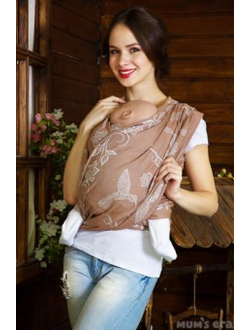 Слинг-шарф COLIBRI BROWN, long, капучиноJ(М 4.7м)