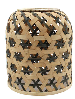 Абажур LAMPSHADE KOGAWA NATURAL+BLACK D31XH35 BAMBOO+IRON арт. 30998