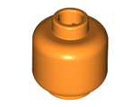 Minifig, Head (Plain) - Stud Recessed, Orange (3626c / 4511896)