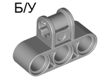 ! Б/У - Technic, Axle and Pin Connector Perpendicular Triple, Light Bluish Gray (63869 / 4538007) - Б/У