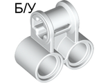 ! Б/У - Technic, Axle and Pin Connector Perpendicular Double, White (32291 / 322911 / 4144131) - Б/У