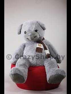 """Плюшевый медведь """"Доминик"""" 170 см. серый"""