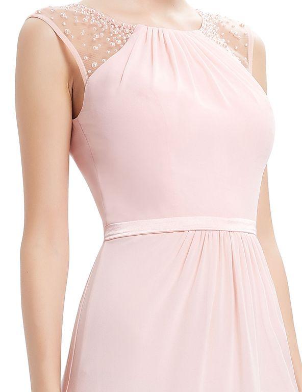 d246087877fddf2 Светло-розовое вечернее платье с расшитыми плечами 48-50 - Прокат ...