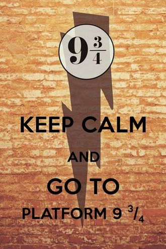 Keep calm and go to platform 9 3/4