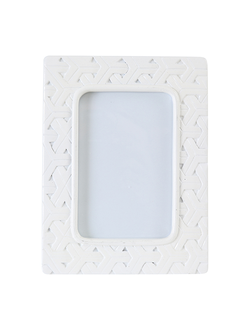 Фоторамка 20X15CM PHOTO FRAME MAYA WHITE  POLYRESIN 29958