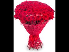 57 роз (бордовые розы) букет Вне Тайны