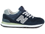 New Balance 574 Blue Grey White