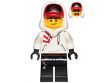 Jack Davids - White Hoodie with Cap and Hood ;Lopsided Smile / Scared;, n/a (hs009)