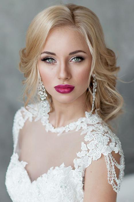 Фото свадебных причесок для блондинок