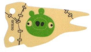 Cloth Flag 8 x 4 Wave with Green Pig Face Pattern, Tan (bb719pb01 / 6145146)