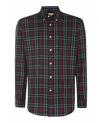 Рубашка T.M.LEWIN Check Classic Fit Button Down Shirt
