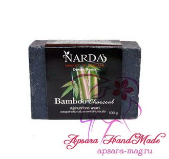 Narda Carbon Soap Bamboo Charcoal / Детокс-мыло на основе бамбукового угля (100 гр)