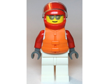 Male, White and Red Jumpsuit with ;XTREME; Logo, Red Helmet, Orange Life Jacket, Sunglasses, n/a (cty1112)