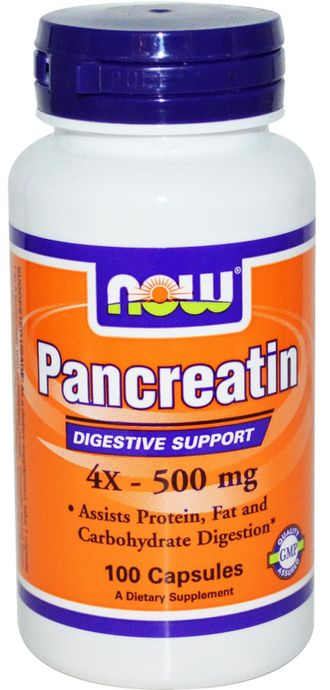 NOW Pancreatin 2000mg (100 капс)