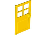 Door 1 x 4 x 6 with 4 Panes and Stud Handle, Yellow (60623 / 4528550)