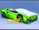 Кровать машина ЛАМБО зеленая