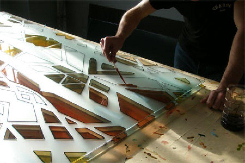 Как залить на стекле