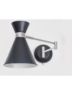 Pelham Wall Mounted Light in Carbon - Steel цвет Карбон арт.LCN05