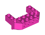 Train Front Sloping Base with 4 Studs, Dark Pink (87619 / 6056386)