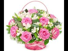 Корзина «Розовое очарование»