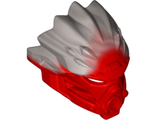 Bionicle Mask of Fire Unity with Marbled Flat Silver Pattern, Red (24148pb01 / 6134986)