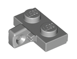 Hinge Plate 1 x 2 Locking with 1 Finger on Side without Bottom Groove, Light Bluish Gray (44567b / 4211814)